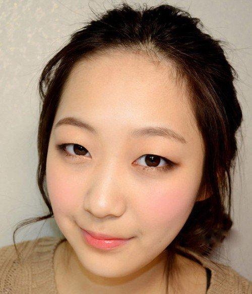 Mắt 1 mí giống Hàn Quốc